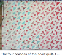 The four seasons of the heart quilt pattern
